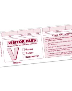 GEN-SVP School Visitor Pass Book