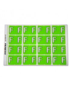 Letter F Alpha Labels
