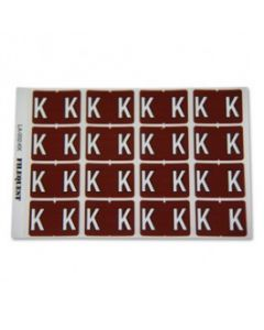 Letter K Alpha Labels