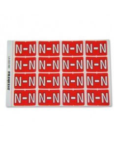 Letter N Alpha Labels