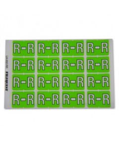 Letter R Alpha Labels