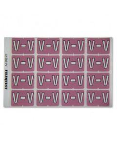 Letter V Alpha Labels