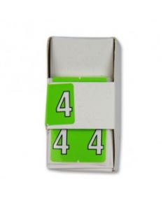 Number 4 Numerical Labels