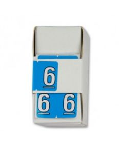 Number 6 Numerical Labels