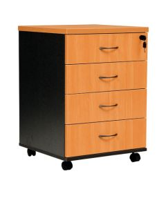 Logan 4 Drawer Mobile Pedestal