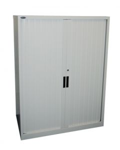 Steelco Tambour Door Cabinet - 1200W x 1015H x 463D inc 2 Shelves