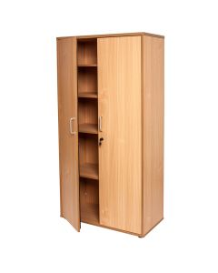 Rapid Span Cupboard - Lockable 900W X 450D X 1800H - Beech