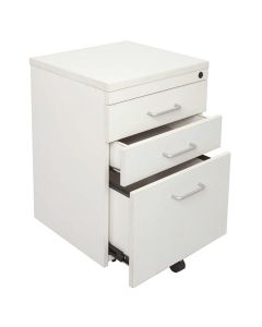 Rapid Span 3 Drawer Mobile Pedestal White