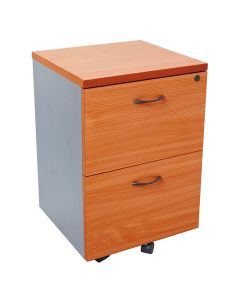 Rapid Worker 2 Drawer Mobile Pedestal Cherry