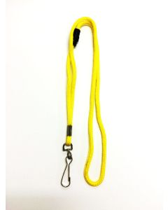 Lemon Yellow Round Lanyard With Safety Breakaway & Swivel Hook