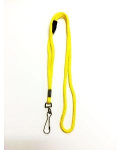 Lemon Yellow Round Lanyard With Safety Breakaway & Swivel Hook