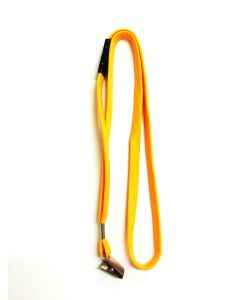 Golden Yellow Flat Lanyard With Safety Breakaway & Alligator Clips