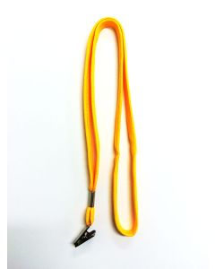 Golden Yellow Lanyard With Alligator Clip
